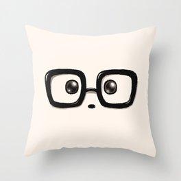 Panda Eyes Throw Pillow
