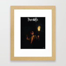 Pirate Eye In Search of Treasure Framed Art Print