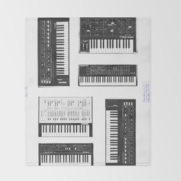 Collection : Synthetizers Throw Blanket