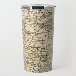 Old and Vintage Map of Germany Outline Travel Mug