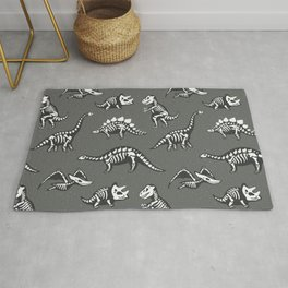 Dinosaur Skeleton Pattern Rug
