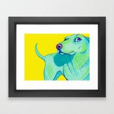 Hello Dog Framed Art Print