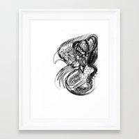 phoenix Framed Art Prints featuring Phoenix. by sonigque