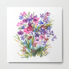 Lavender Mini Fleurs Metal Print