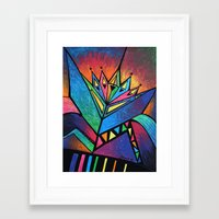 alien Framed Art Prints featuring ALIEN by Deyana Deco