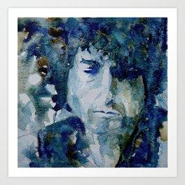 Tangled up in Blue ..Bob Dylan Art Print