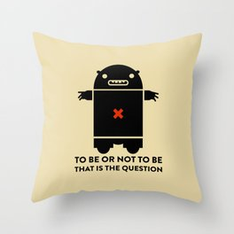 To be or not to be_yellow Throw Pillow