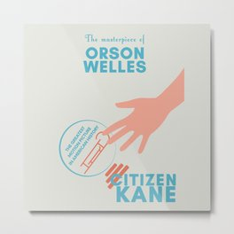 Citizen Kane, minimal movie poster, Orson Welles film, hollywood masterpiece, classic cinema Metal Print
