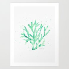 Sea Green Coral Art Print