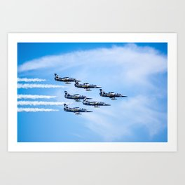 Breitling Jets In Formation Art Print