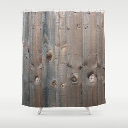 Brown Wooden Fence Shower Curtain