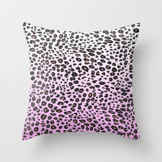 PINK LEOPARD  Throw Pillow