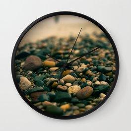 Stones on the beach Wall Clock