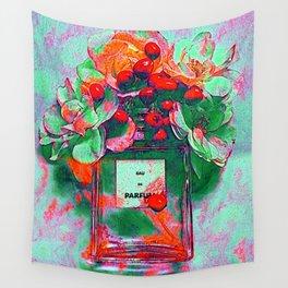 Parfum Flowers Wall Tapestry