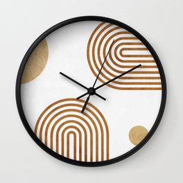 Jazzy Afternoon - Minimal Geometric Abstract - White 2 Wall Clock