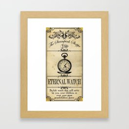 Steampunk Apothecary Shoppe - Watch Framed Art Print