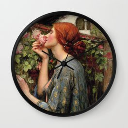 John William Waterhouse, My Sweet Rose, 1908 Wall Clock