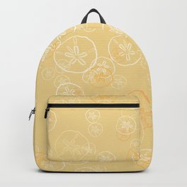 Golden sand dollar pattern Backpack