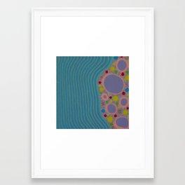 Untitled, purple rings Framed Art Print
