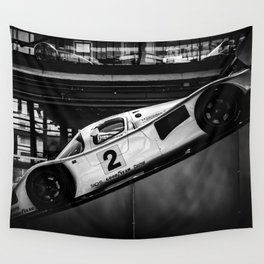 Silver Racer Wall Tapestry