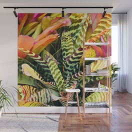 Exotic and Luxurious Tropical Hawaiian Plant Leaves Wall Mural