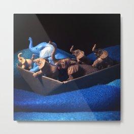 The Elephants & The Cerulean Sea Metal Print