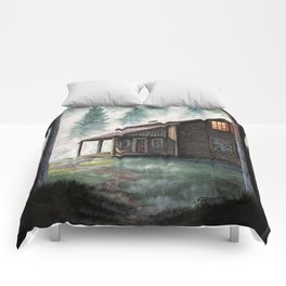 Cabin in the Pines Comforters