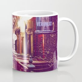 Winter Night with Snow in the East Village New York City Coffee Mug