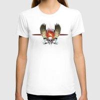 guns T-shirts featuring Skull & Guns by Messiahsc