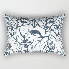 nautical toile de jouy white Rectangular Pillow