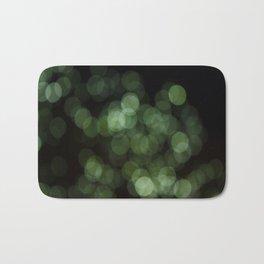 Bokeh Blurred Lights Shimmer Shiny Dots Spots Circles Out Of Focus Green Bath Mat