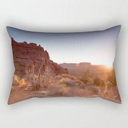 Setting Desert Sun Rectangular Pillow