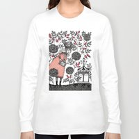 agnes Long Sleeve T-shirts featuring Winter Garden by Judith Clay