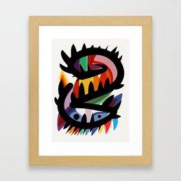 Depemiro Abstract Colorful Art Framed Art Print
