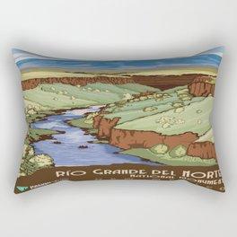 Vintage poster - Rio Grande Del Norte Rectangular Pillow