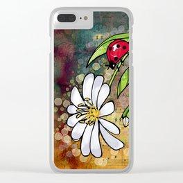 Ladybug_3 Clear iPhone Case