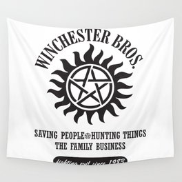SUPERNATURAL WINCHESTER BROTHERS DEAN AND SAM Wall Tapestry