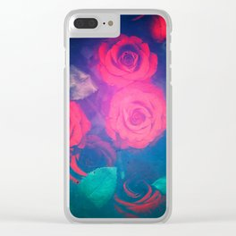 Rose Red Clear iPhone Case