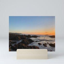 Sunset Over Rocks Mini Art Print