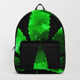 Weed : High Times green Galaxy Backpack