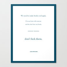 Books Are Cool Canvas Print