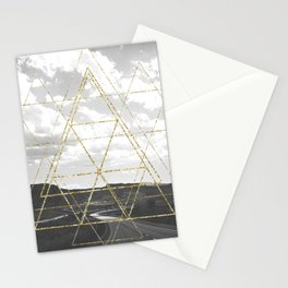 Gold Glitter Sacred Geometry Stationery Cards