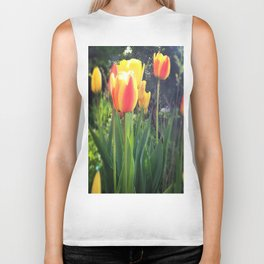 Spring Tulips in Bloom Biker Tank