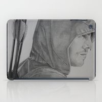 green arrow iPad Cases featuring Arrow by Brooke Shane