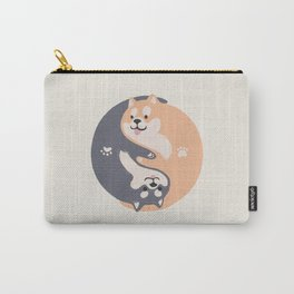 Yin yang Doge shiba inu hug together Carry-All Pouch