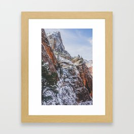 Zion's Great White Throne Framed Art Print