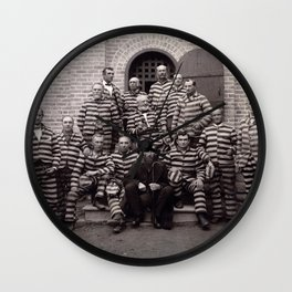 Polygamists in Prison Wall Clock