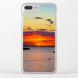 Boat Silhouette Clear iPhone Case