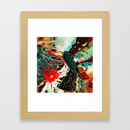 Colorful water reflection of Framed Art Print