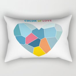 Color of Love - Heart abstract background Rectangular Pillow